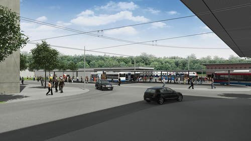 Busbahnhof in Ebikon (Bild: Visualisierung Mathys Partner)