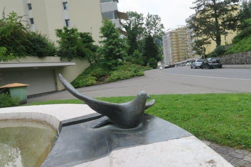 Er heisst «Bird of Freedom Fountain». (Bild: Stefanie Nopper / Luzernerzeitung.ch)