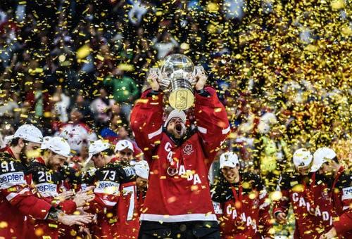 Kanada (im Bild Mike Smith) wird Eishockey-Weltmeister (17. Mai). (Bild: EPA / Filip Singer)