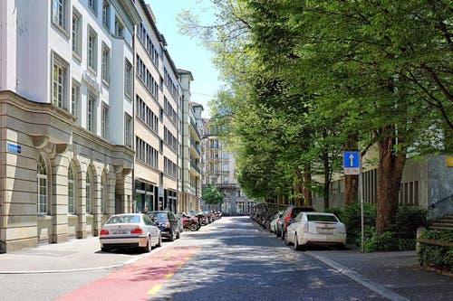 Die Morgartenstrasse heute. (Bild: pd / Visualisierung)