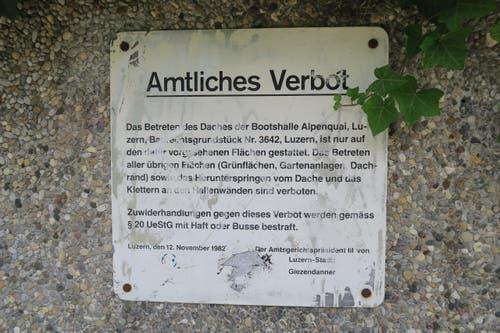 ... aber bitte nicht vom Weg abkommen. (Bild: Stefanie Nopper / Luzernerzeitung.ch)