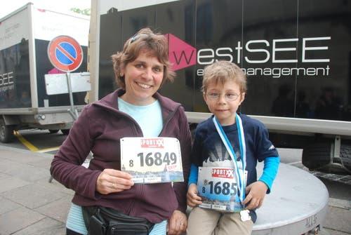 Sibylle Kirchhofer aus Büron mit Sohn Manuel (Bild: Swiss-Image)