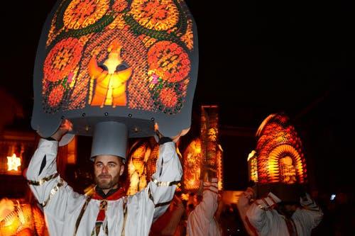 5. Dezember: In Küssnacht fand das traditionelle Chlausjagen statt. (Bild: Eveline Beerkircher / Neue LZ)