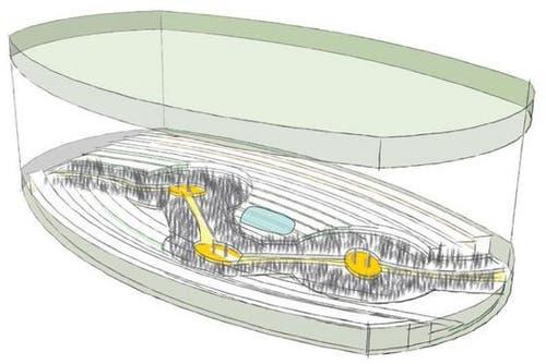 Drei Bühnen als Inseln, mit Stegen verbunden. (Bild: pd)