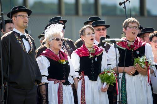 Festakt am Zentralschweizer Jodlerfest. (Bild: Philipp Schmidli)