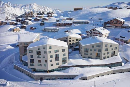 Flugaufnahme des neuen Hotels (Bild: PD)