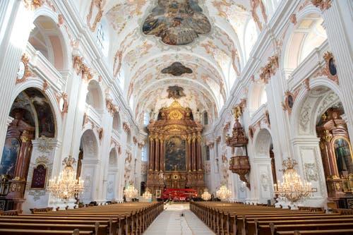 Blick in die sanierte Jesuitenkirche. (Bild: Dominik Wunderli)