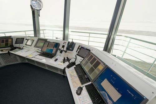 Der Turm ist mit modernster Technik ausgerüstet. (Bild: Keystone/Sigi Tischler)