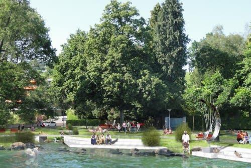 Die mögliche Situation nach der Neugestaltung des Fridolin-Hofer-Parks. (Bild: PD)