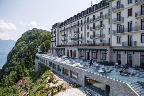 Das Palace Hotel Bürgenstock (21. Juni 2017) (Bild: Alexandra Wey / Keystone (Bürgenstock, 21. Juni 2017))