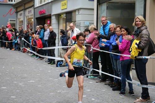 Der Sieger in der Kategorie U14 der Jungen: Navid Kerber aus Kirchberg. (Bild: Ramona Geiger / luzernerzeitung.ch)