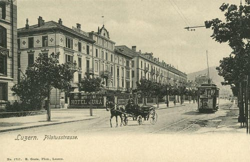 Hotel Jura, heute Hotel Astoria, 1922 (Bild: PD)