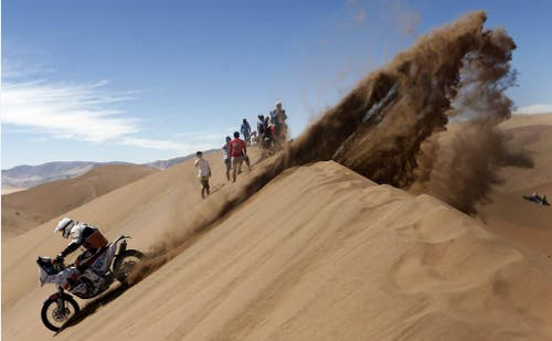 Ondrej Klyciv beim Dakar-Rally in Chile (7. Januar). (Bild: EPA / Felipe Trueba)