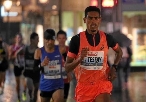 Simon Tesfay hat den Elitelauf der Männer gewonnen. (Bild: swiss-image.ch/Photo Andy Mettler)