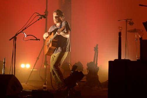 Damien Rice am Blueballs Festival im Konzertsaal des KKL. (Bild: Dominik Wunderli / Neue LZ)