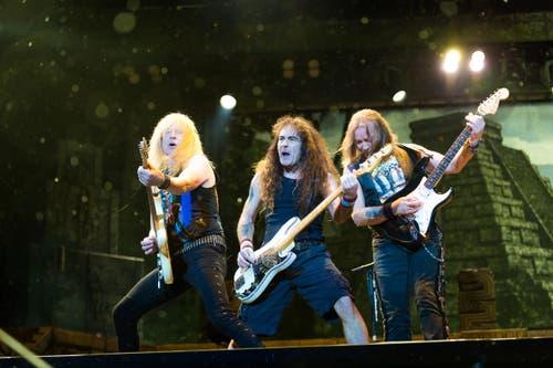 Iron Maiden - angejahrt ja, aber sehr erfahren! (Bild: Roger Grütter)
