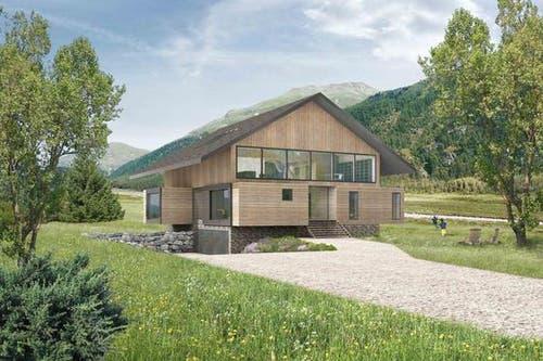 Eine Villa ist ab 8 Millionen Franken zu haben. «Nach oben ist der Preis aber offen», so Alain Gozzer, Sprecher der Andermatt Swiss Alps AG. (Bild: Andermatt Swiss Alps)