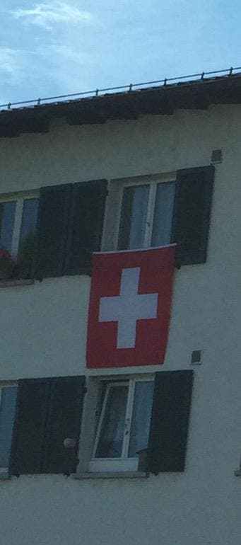 HOOP SCHWIIZ!! (Bild: Sandra Wenk, Zürich)