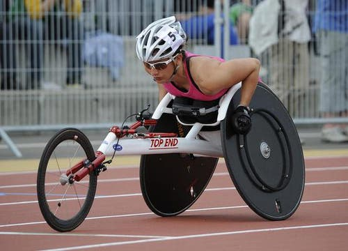 Rollstuhlsportlerin Manuela Schär. (Bild: Kurt Grüter / Neue LZ)