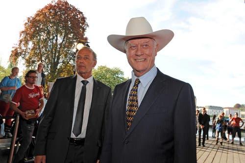 Larry Hagman bekannt aus der TV-Serie Dallas. (Bild: Eveline Beerkircher/Neue LZ)