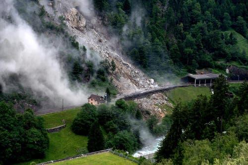 Gewaltige Gesteinsmasen donnerten zu Tal. (Bild: Nadia Schärli/Neue LZ)