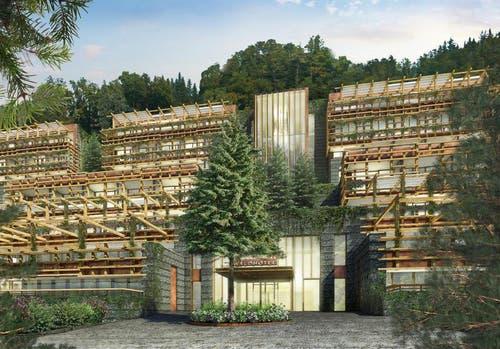 So soll das Waldhotel dereinst aussehen. (Bild: Visualisierung PD)