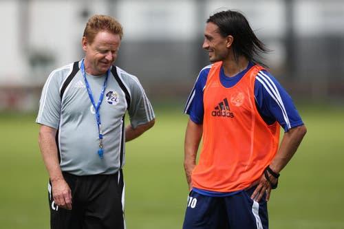 26. Juni 2009: Trainingsstart in die neue Saison. Neu dabei ist auch Hakan Yakin. (Bild: Philipp Schmidli/Neue LZ)