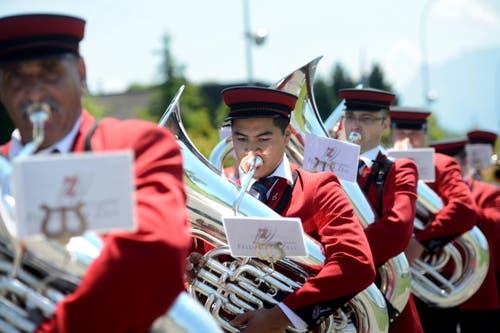 Brass Band Feldmusik Zell (Bild: Nadia Schärli / Neue LZ)