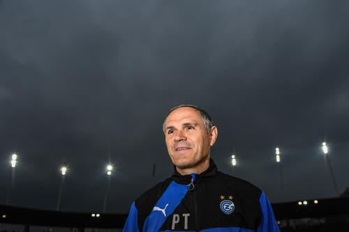 Der GC-Trainer Pierluigi Tami vor dem Fussball Spiel. (Bild: VALERIANO DI DOMENICO)