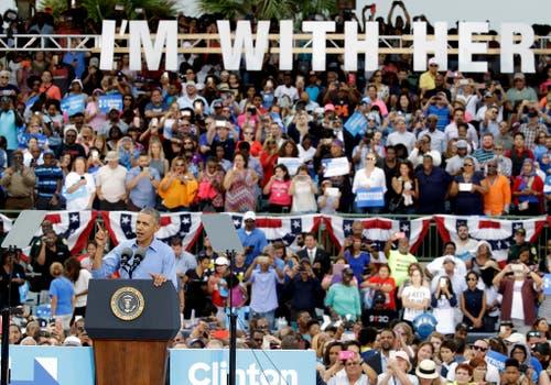 Präsident Barack Obama unterstützt Hillary Clinton. (Bild: Keystone)