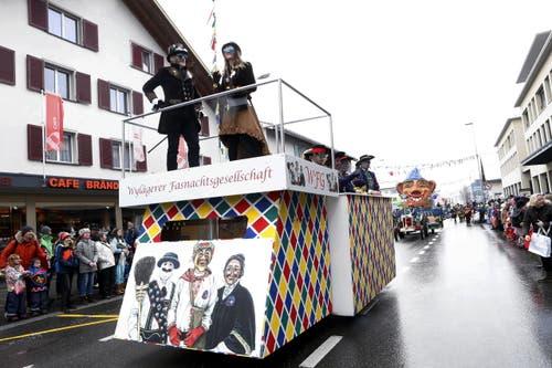 Wylägger Fasnachtsgesellschaft (Bild: Werner Schelbert (Unterägeri, 11. Februar 2018))