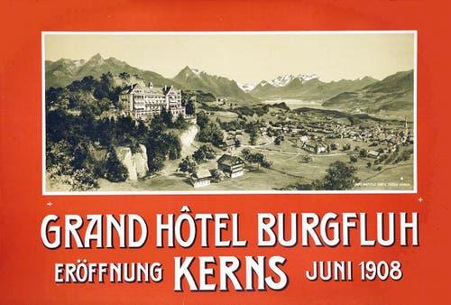 Kanton Obwalden: Grand Hotel Burgfluh in Kerns (Bild: pd)