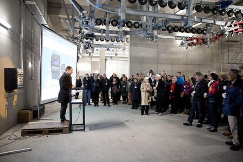 Offizielle Begrüssung durch Norbert Patt, CEO Titlis Bergbahnen. (Bild: Manuela Jans-Koch (Neue LZ))
