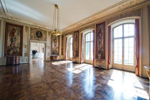 Räumlichkeit im Erdgeschoss der St. Charles Hall in Meggen. (Bild: Dominik Wunderli / Neue LZ)