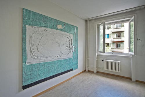 Auf dem Bild zu sehen ist die Wohnung mit Werken Paul Lipp. (Bild: Pius Amrein / Neue LZ)