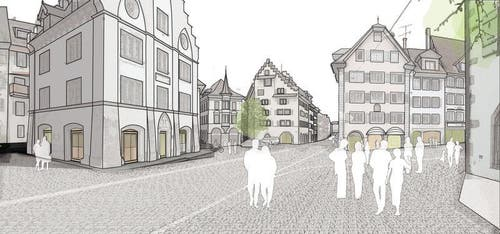 Altstadt mit Kolinplatz. (Bild: PD)