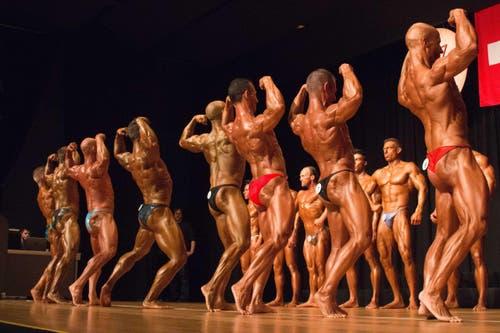 Jede Muskel der Athleten ist angespannt. (Bild: Fabian Gubser)