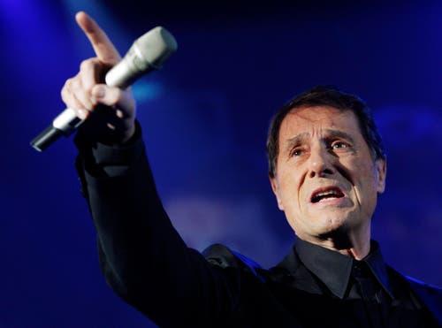 Udo Jürgens während eines Konzertes im Hallenstadion in Zürich. (Bild: Keystone)
