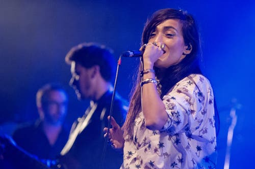 Hindi Zhara bei ihrem Auftritt an den Stanser Musitagen im Kollegi Stans. (Bild: Pius Amrein / Neue LZ)