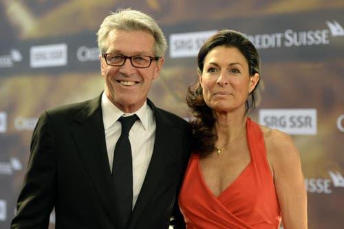 Ex-Skirennfahrer und TV-Experte Bernhard Russi mit Mari. (Bild: Keystone)