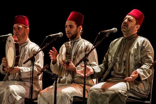 Noureddine Khourchid, Sänger der Umayyaden-Moschee in Damaskus. (Bild: Keystone / Alexandra Wey)