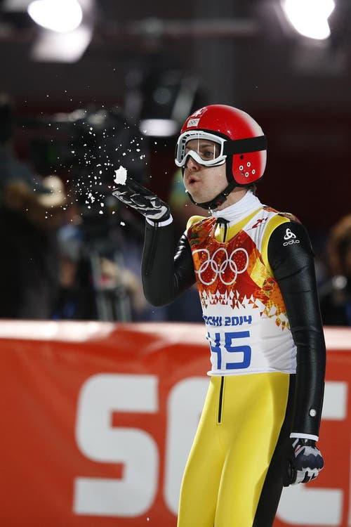 Platz 17 für Simon Ammann an den Olympischen Spielen in Sotschi. (Bild: Keystone)