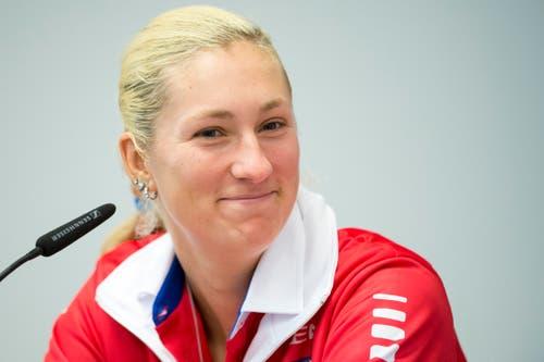 Die Nummer drei ist Denisa Allertova (23). (Bild: Keystone / Urs Flüeler)