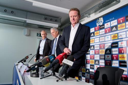 23. Dezember 2014: Rolf Fringer wird als neuer Sportchef des FC Luzern und Nachfolger von Alex Frei offiziell vorgestellt. (Bild: Dominik Wunderli)