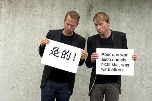 Sie sind mit Ihren Plakaten durch China getourt. Konnten Sie Ihre Witze dort typografisch umsetzen? (Bild: Nadia Schärli)