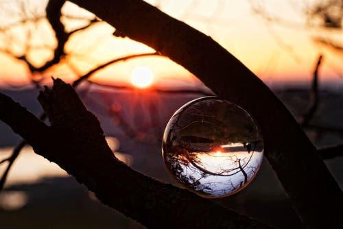 Sonnenuntergang über dem Aegerisee. (Bild: Anita Imfeld-Leu)