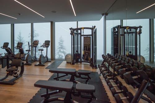Auch Fitnessgeräte findet man vor. (Bild: Pius Amrein)