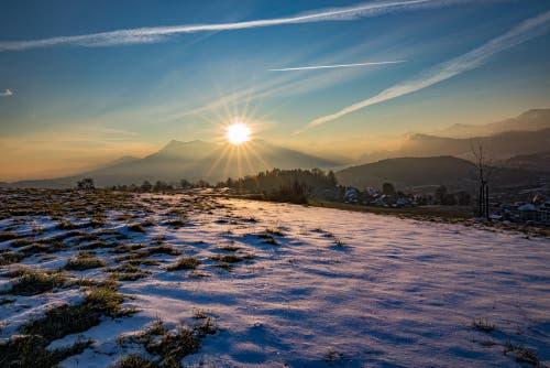 immer wieder traumhaft, Sonnenaufgang vom Sonnenberg aus gesehen (Bild: Hardy Konzelmann)