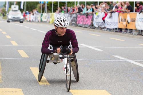 10-km-Wettkampf Manuela Schär gewann ihren Wettkampf klar. (Bild: Beat Blättler)