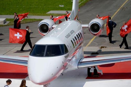 Zu den 84 Erstkunden des PC-24 zählen neben dem Schweizer Bundesrat vor allem Flugzeugverleiher und Chartergesellschaften aus mehreren Ländern. (Bild: Keystone)